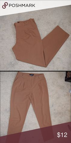 Brown ankle dressy pants Trousers pants, zipper in the front, length is up to ankles Fast Shipping No Trades, accept offers  bundle discount with 2 items or more  Check out others items. Pants Trousers