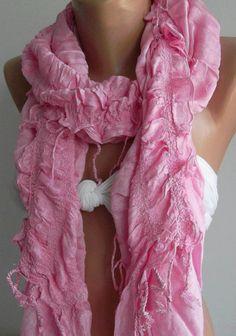 Pink / Elegance  Shawl / ScarfSuper soft by womann on Etsy,