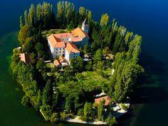 Monastery on the island of Visovac, Krka National Park, Croatia - Sig Nordal, Jr. - Google+