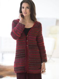 Top Down Crochet Jacket - Free Crochet Pattern With Website Registration - (lionbrand)