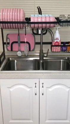 Kitchen Room Design, Kitchen Cabinet Design, Modern Kitchen Design, Home Decor Kitchen, Interior Design Kitchen, Home Kitchens, Diy Kitchen Storage, Kitchen Organization, Kitchen Space Savers