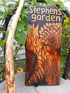Outdoor custom made sign on knotted pine #home #decor #outdoor www.loveitsomuch.com