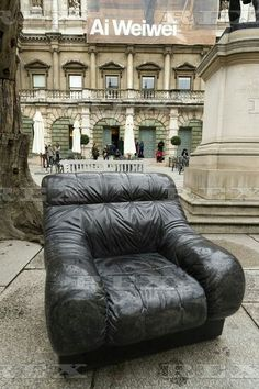 Ai Weiwei press preview at the RA London, Britain - 15 Sep 2015  Artwork titled Marble Couch (2011) by artist Ai Weiwei 15 Sep 2015
