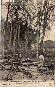 carte postale Carcassonne - Cyclone du 19 Août 1912 - Le Square Gambetta ... - N,  Départements français : 01 à 25 11 AUDE