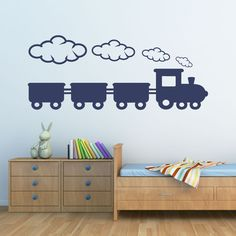Eine wunderschöne #Eisenbahn als #Wandtattoo. #Dekoration für das #Kinderzimmer oder #Babyzimmer.