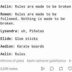 Aelin Rowan Lysandra Elide Aedion