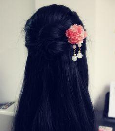 Geek Jewelry, Cute Jewelry, Hair Jewelry, Japanese Jewelry, Kawaii Hairstyles, Fantasy Hair, Fashion And Beauty Tips, Wedding Hair Pieces, Beautiful Long Hair