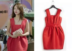 "Han Groo 한그루 in ""Marriage, Not Dating"" Episode 2.  Kosoyoung Red Dress #Kdrama #MarriageNotDating #연애말고결혼 #HanGroo"