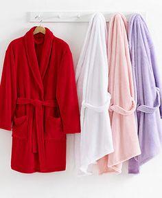 Martha Stewart Collection Plush Comfort Bath Robe - Shop All Pajamas & Robes - Women - Macy's
