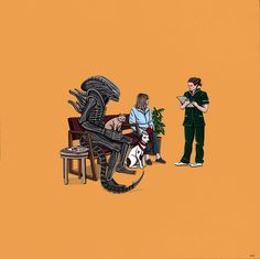 """""""Alien Takes Jonesy to the Vet"""" - Alien 