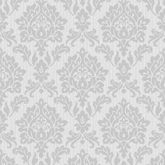 Burlington Damask Wallpaper Silver (FD40625)