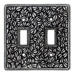 vicenza designs wp7006 san michele wall plate with double toggle opening antique nickel