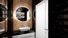 Praca konkursowa z wykorzystaniem mebli łazienkowych z kolekcji BARCELONA #naszemeblenaszapasja #elitameble #meblełazienkowe #elita #meble #łazienka #łazienkaZElita2019 #konkurs Barcelona, Mirror, Bathroom, Furniture, Design, Home Decor, Washroom, Decoration Home, Room Decor