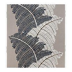 "STOCKHOLM fabric, gray/beige, fern Width: 59 "" Pattern repeat: 36 "" Area: 16.15 sq feet Width: 150 cm Pattern repeat: 92 cm Area: 1.50 m²"