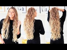 Loose Curls Hair Tutorial | Luxy Hair - YouTube