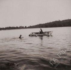 """The Grand Duchesses swimming in 1912. """"AL"""""""