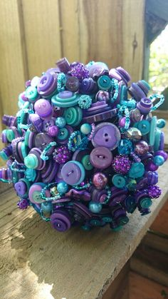 Brides button bouquet wedding 2015