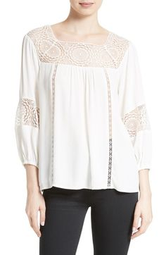 Main Image - Joie Bellange Lace Trim Blouse