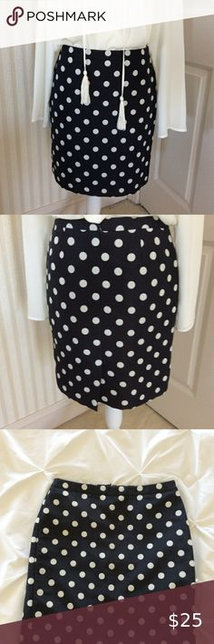 exposed contrasting Navy or Yellow zipper bell pull with leather detail Hot Pink Linen pencil zip in navy polka dot print canvas lined