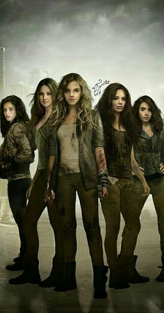 Badass YA heroines (PS I cropped this to take out the actresses for Annabeth and Rose that do not look anything like their character. I'm okay with Lily as Clary, but I do prefer Kat and wish this edit had her instead!)