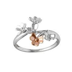 Diamond set white gold Love Shamrock spray ring with one Rare Irish rose gold flower Irish Jewelry, Unique Jewelry, Celtic Goddess, Ring Size Guide, Diamond Rings, Jewelry Collection, White Gold, Rose Gold, Pure Products