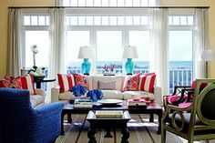 love the colors and all the different pieces of furniture!