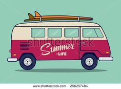 Stock Images similar to ID 287556119 - surfer van poster or t shirt...