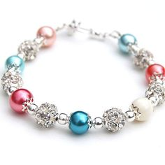 Bridesmaid Jewelry Turquoise Coral and Ivory Pearl by AMIdesigns, $24.00