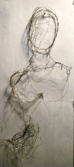 Wire Art by Elizabeth Zator, via Behance
