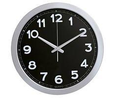relógio de parede wincy - grande - caixa de metal preto