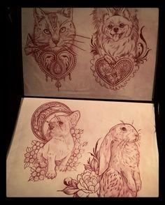 Regardez cette photo Instagram de @sophiextattoo • 297 J'aime #illustration #neotraditionel #neotraditional #neo #traditionel #traditional #draw #drawing #tattoo #ink #tattooed #inked #sketch #sketches #flowers #animals