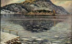 "Kunstnerkort Edv.Diriks, ""Fyrdiriks"" Fjordparti. Utg Mittet. Stemplet 1933"