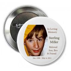 The Memorial Badge Pins are a tribute that can be worn everyday on a jacket, hat or purse or to a special memorial occasion. Each quality made badge pin is personalized with an image of your loved one. We can also include a name and dates or other short message. #sympathy #gift Short Messages, Losing A Loved One, Sympathy Gifts, In Loving Memory, Dates, Badge, Purse, Memories, Jacket