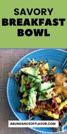 Savory breakfast bowl to make your brunch pop. Spice up your leftovers with fresh ingredients to create a unique take on your meal. Savory Breakfast, Breakfast Bowls, Breakfast Ideas, Savory Rice, Cheesy Grits, Lunch Menu, Morning Food, Healthy Options, Healthy Fats
