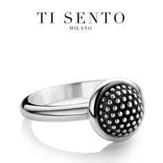 Bubbles, studs silver ring with the perfect structure