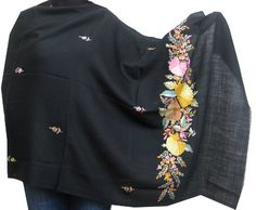 Embroidered Black Scarves and Wraps Women Pure « Clothing Impulse