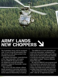 Australian MRH-90 purchase announced. Published in issue #4, December 2004