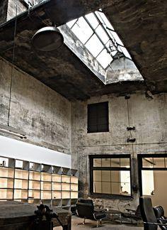 Concrete office / workshop.
