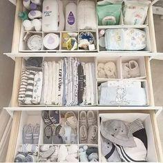 baby organization Baby Nursery Ikea Dresser Organization Ideas For 2019 Baby Shoe Storage, Baby Clothes Storage, Babies Clothes, Organizing Baby Clothes, Diy Clothes, Ikea Nursery, Nursery Storage, Baby Nursery Furniture, Bedroom Storage