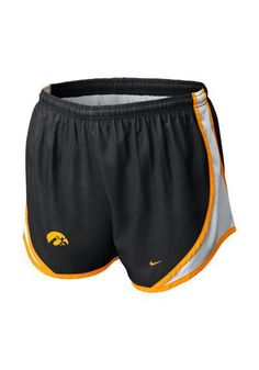 Iowa Hawkeyes Shorts - Hawkeyes Nike Womens Black Tempo Shorts http://www.rallyhouse.com/college/iowa-hawkeyes/a/womens/b/clothing/c/shorts-pants?utm_source=pinterest&utm_medium=social&utm_campaign=Pinterest-IowaHawkeyes $34.00