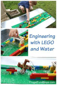 Engineering for Kids:  Build a LEGO Water Wheel and More. What a fun building challenge!