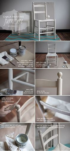 Hand Painted Furniture using Annie Sloan Chalk Paint Tutorial {gives it a vintage feel} // Lia Griffith Chalk Paint Furniture, Hand Painted Furniture, Refurbished Furniture, Repurposed Furniture, Furniture Projects, Furniture Makeover, Diy Furniture, Antique Furniture, Refurbished Bookcase