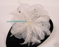 Hair and Head Jewelry 110620: Hair Flower Comb Pearls Crystals Feathers White -> BUY IT NOW ONLY: $37.4 on eBay!