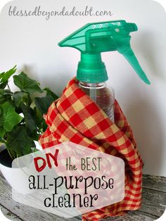 The Best DIY Homemade All Purpose Cleaner Recipe! – Blessed Beyond A Doubt - Quest. Diy Home Cleaning, Homemade Cleaning Products, Cleaning Recipes, Green Cleaning, Natural Cleaning Products, Cleaning Hacks, Cleaning Supplies, Cleaning Solutions, Natural Products