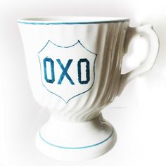 OXO... delightful Vintage Oxo mug by KatieGreenVintage on Etsy