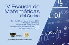 IV Escuela de Matemáticas del Caribe - EMACAR #Unicartagena #CienciasExactas