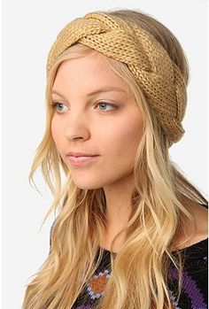 Functional style. Braided Cable Knit Ear Warmer from urban