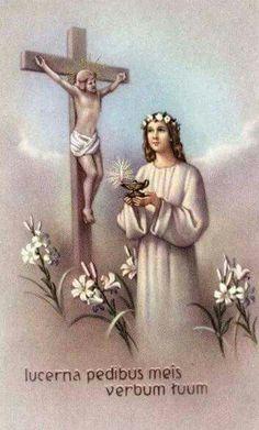 Virgen consagrada con lampara