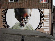 Street Art - dizebi 8 - El Hambre viene, El Hombre se va......... o_O