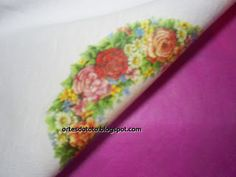 "°• ""Artes da Táta"" •°: Apostila de Decoupage em Tecido Floral Tie, Tableware, Hand Soaps, Fabrics, Toddler Girls, Needlepoint, Floral Lace, Dinnerware, Dishes"